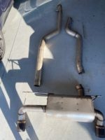 240i Dinan high flow mid pipe and Dinan free flow axle back exhaust