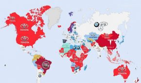 This World Map Shows the Most-Googled Car Brands By Country